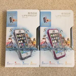 Lifeproof nüüd case for iPhone 5/5S bundle of 2